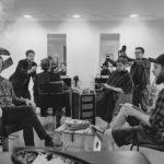 Yakuzi Bandfoto 2016 beim Frisör.
